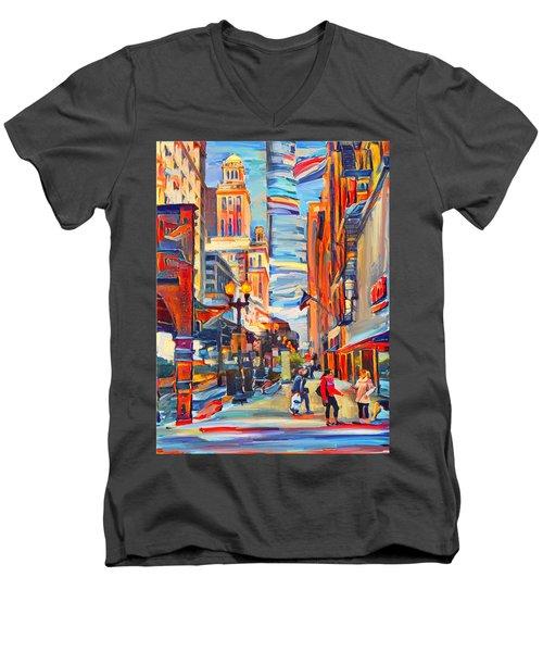 Chicago Colors 4 Men's V-Neck T-Shirt
