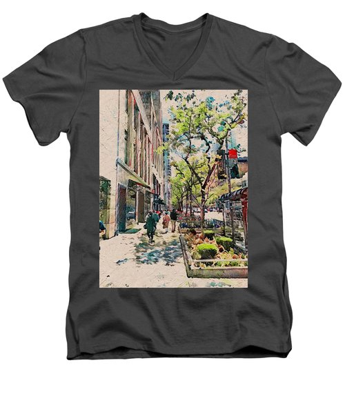 Chicago Colors 6 Men's V-Neck T-Shirt