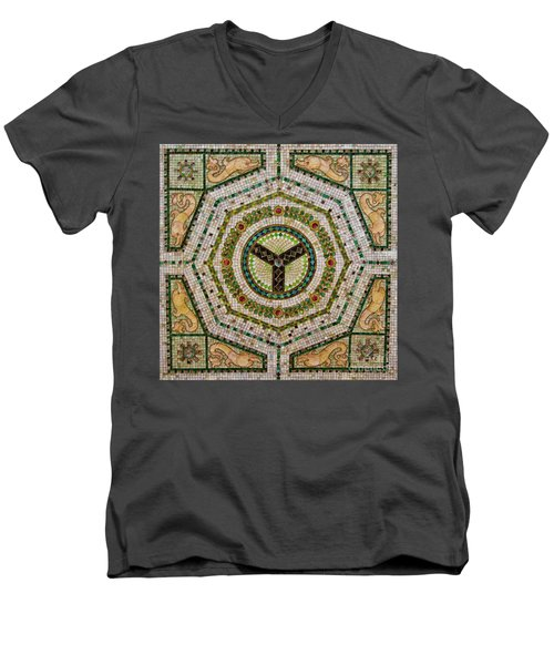 Chicago Cultural Center Ceiling Men's V-Neck T-Shirt