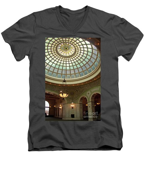 Chicago Cultural Center Dome Men's V-Neck T-Shirt