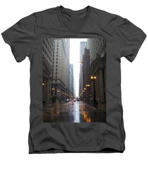 Chicago In The Rain 2 Men's V-Neck T-Shirt