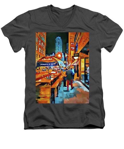Chicago Night Time Men's V-Neck T-Shirt