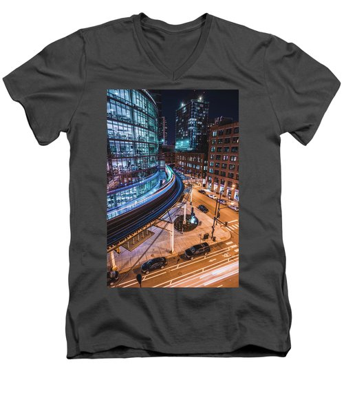 Chicago S Train Men's V-Neck T-Shirt