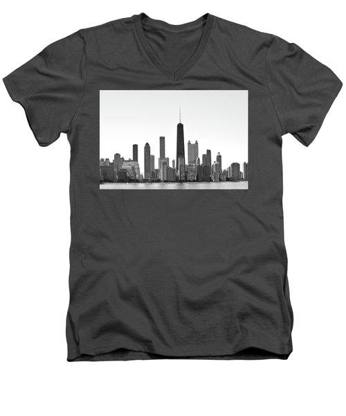 Chicago Skyline No. 1-1 Men's V-Neck T-Shirt