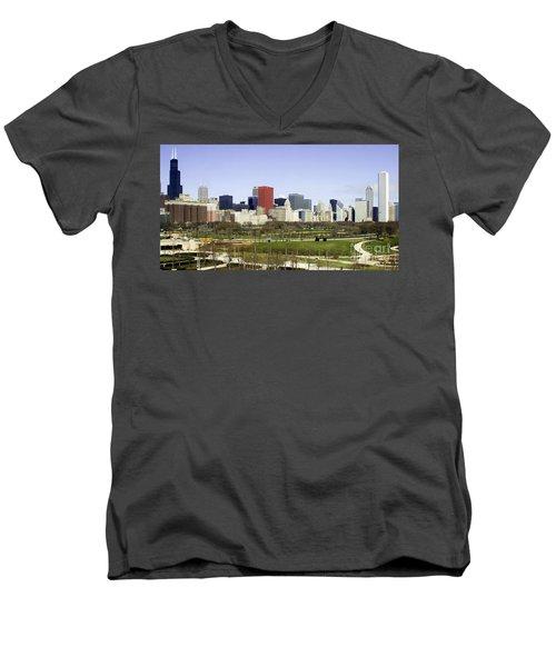 Chicago- The Windy City Men's V-Neck T-Shirt
