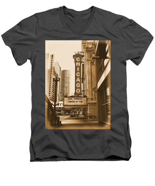 Chicago Theater - 3 Men's V-Neck T-Shirt