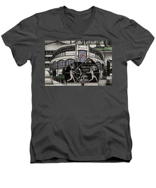Chicago Whitesox Us Cellular Field Men's V-Neck T-Shirt