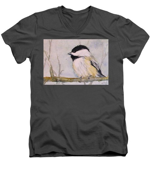 Chickadee Dee Dee Men's V-Neck T-Shirt