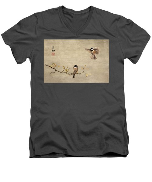 Chickadee Encounter II Men's V-Neck T-Shirt