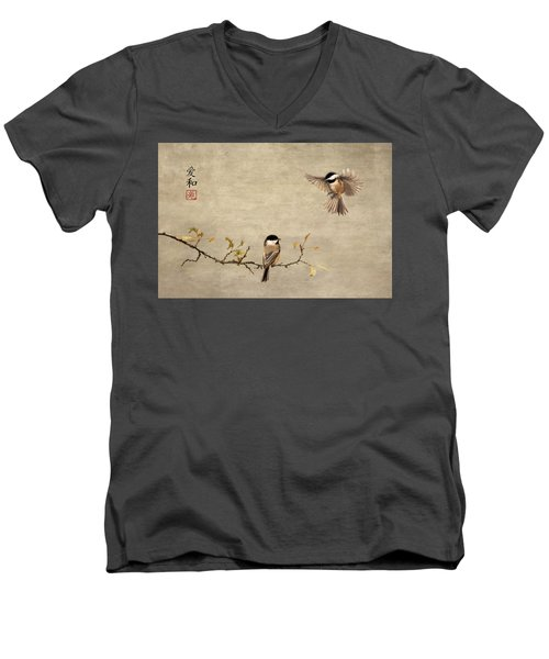 Chickadee Encounter II Men's V-Neck T-Shirt