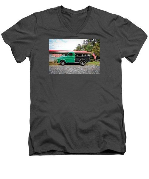 Chicken Road Market Men's V-Neck T-Shirt by Marion Johnson