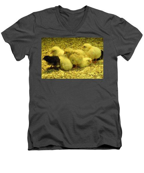 Chicks Men's V-Neck T-Shirt by Laurel Best