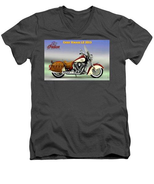 Chief Vintage Le 2013 Men's V-Neck T-Shirt