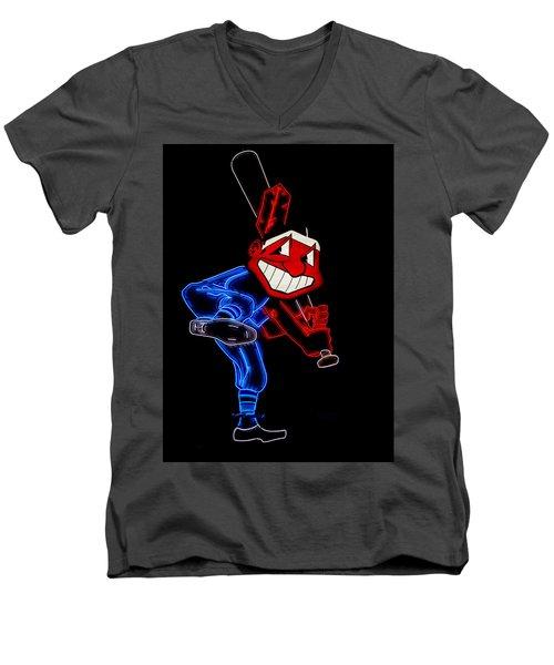 Chief Wahoo Men's V-Neck T-Shirt