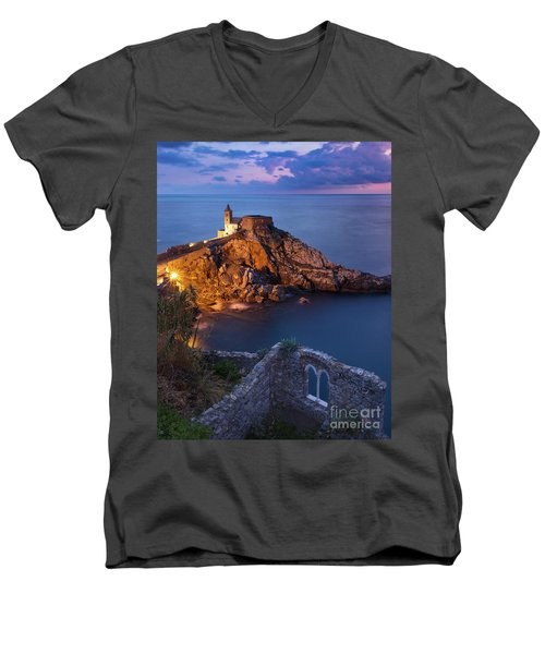 Men's V-Neck T-Shirt featuring the photograph Chiesa San Pietro by Brian Jannsen