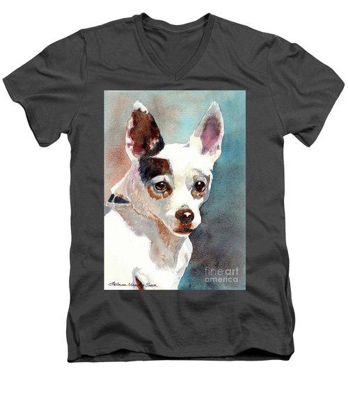Chihuahua  Men's V-Neck T-Shirt by LeAnne Sowa