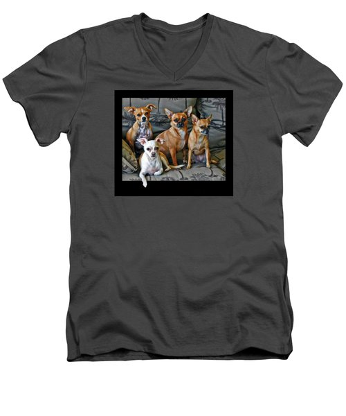 Chihuahuas Hanging Out Men's V-Neck T-Shirt