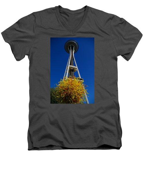 Seattle Space Needle Men's V-Neck T-Shirt
