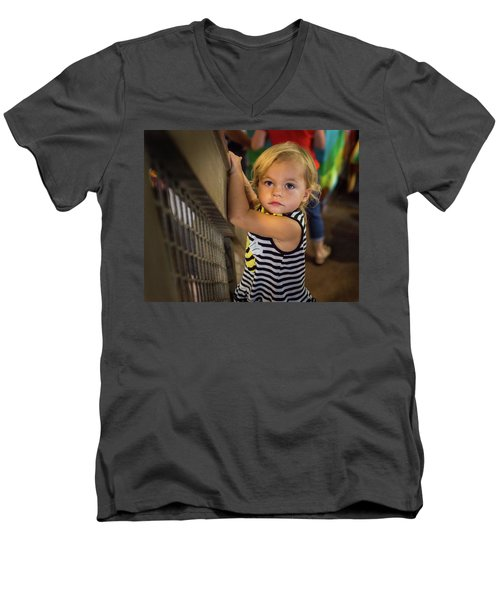 Men's V-Neck T-Shirt featuring the photograph Child In The Light by Bill Pevlor