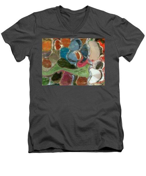 Men's V-Neck T-Shirt featuring the photograph Blue Monks by Kathie Chicoine