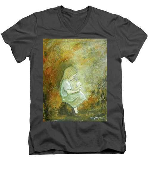 Childhood Wishes Men's V-Neck T-Shirt by Terry Honstead