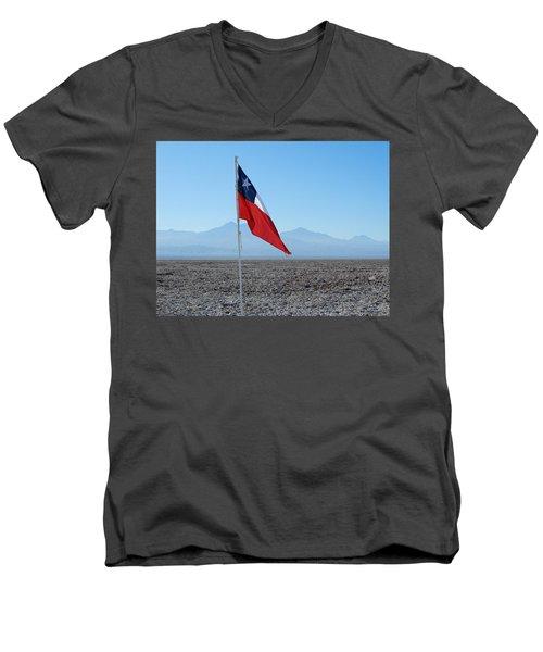 Chilean Flag Men's V-Neck T-Shirt