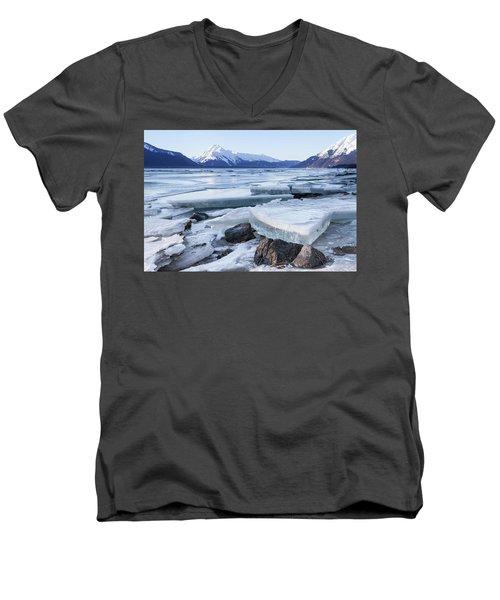 Chilkat River Ice Chunks Men's V-Neck T-Shirt