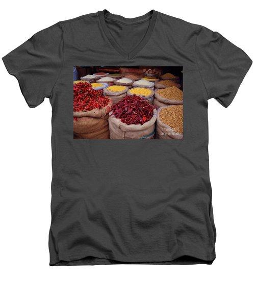 Chilliy Peppers Men's V-Neck T-Shirt