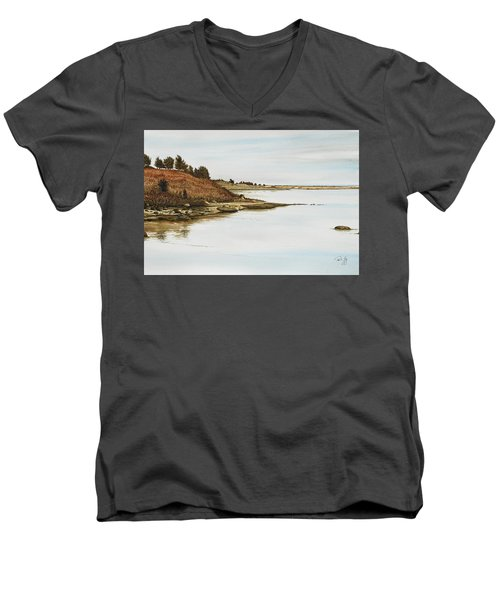 Chilmark Mv Stonewall Pond Men's V-Neck T-Shirt