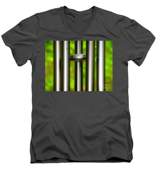 Chiming In Men's V-Neck T-Shirt by Rand Herron