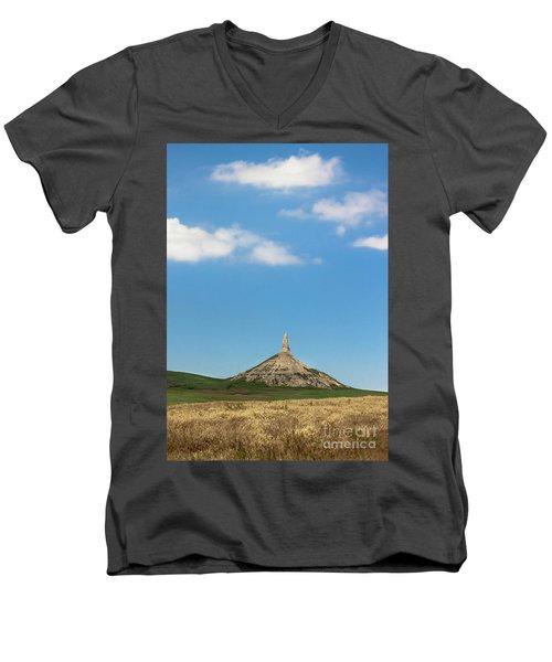 Chimney Rock Nebraska Men's V-Neck T-Shirt