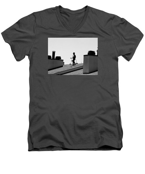 Chimney Sweep Men's V-Neck T-Shirt by Helen Haw
