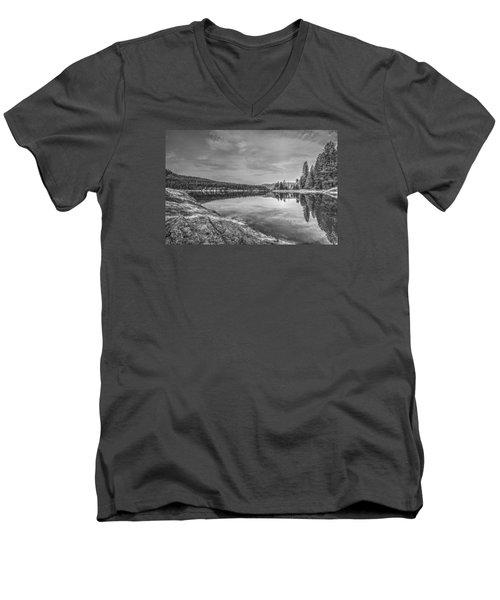 China Bend1 Men's V-Neck T-Shirt by Loni Collins
