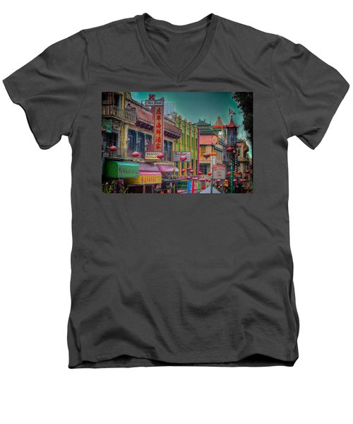 Chinatown Men's V-Neck T-Shirt