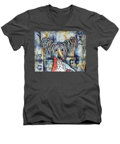 Chinese Crested Men's V-Neck T-Shirt