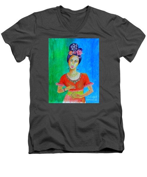 Chinese Dancer -- The Original -- Portrait Of Asian Woman Men's V-Neck T-Shirt