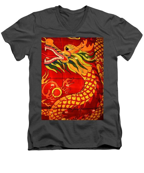 Chinese Dragon Men's V-Neck T-Shirt