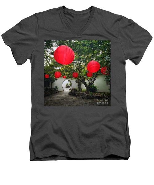 Chinese Tea Garden In Portland, Oregon Men's V-Neck T-Shirt