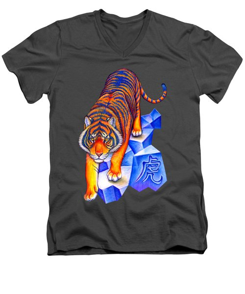 Chinese Zodiac - Year Of The Tiger Men's V-Neck T-Shirt