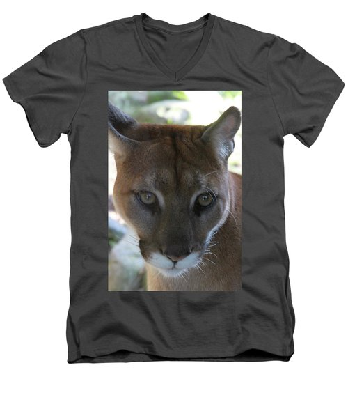 Men's V-Neck T-Shirt featuring the photograph Chinook by Laddie Halupa