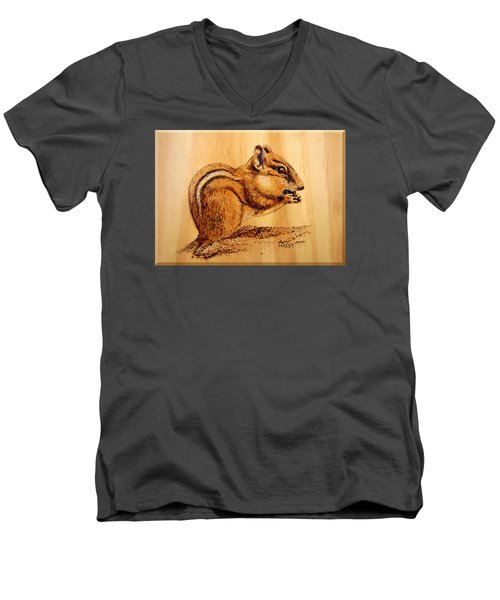 Chippies Lunch Men's V-Neck T-Shirt by Ron Haist