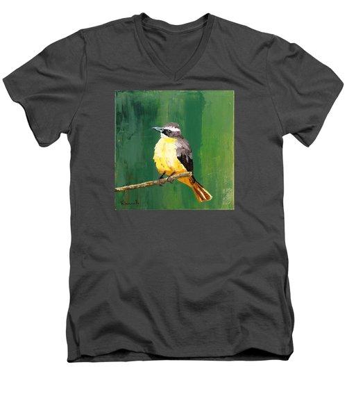 Chirping Charlie Men's V-Neck T-Shirt by Nathan Rhoads