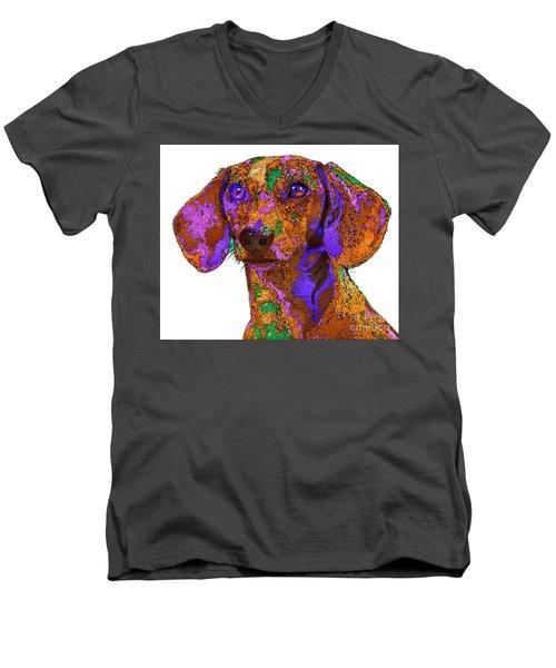 Chloe. Pet Series Men's V-Neck T-Shirt