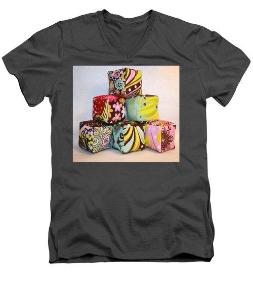 Chocolate Lollipop Pastel Assortment For Baby Men's V-Neck T-Shirt