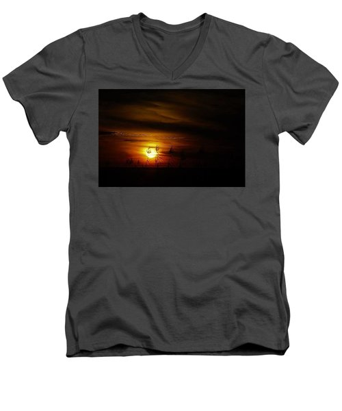 Men's V-Neck T-Shirt featuring the photograph Chocolate  Sunset by John Glass