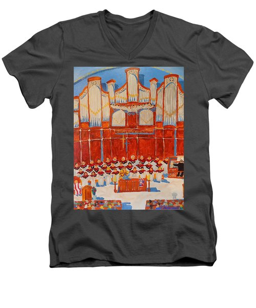 Choir And Organ Men's V-Neck T-Shirt by Rodger Ellingson