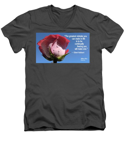Choose Your Quote Choose Your Picture 24 Men's V-Neck T-Shirt