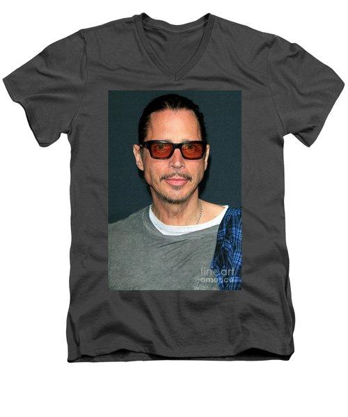 Chris Cornell Men's V-Neck T-Shirt
