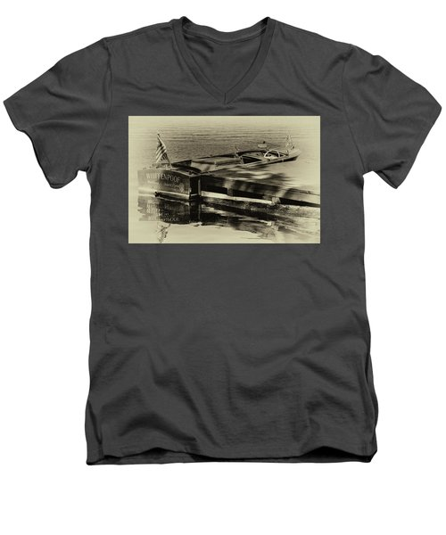 Vintage Chris Craft - 1958 Men's V-Neck T-Shirt