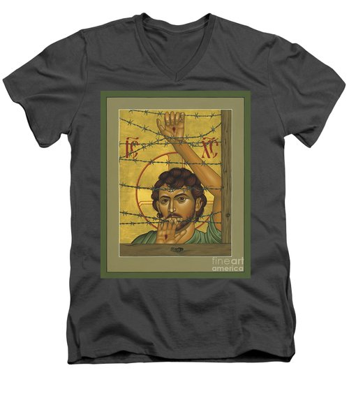 Christ Of Maryknoll - Rlcom Men's V-Neck T-Shirt